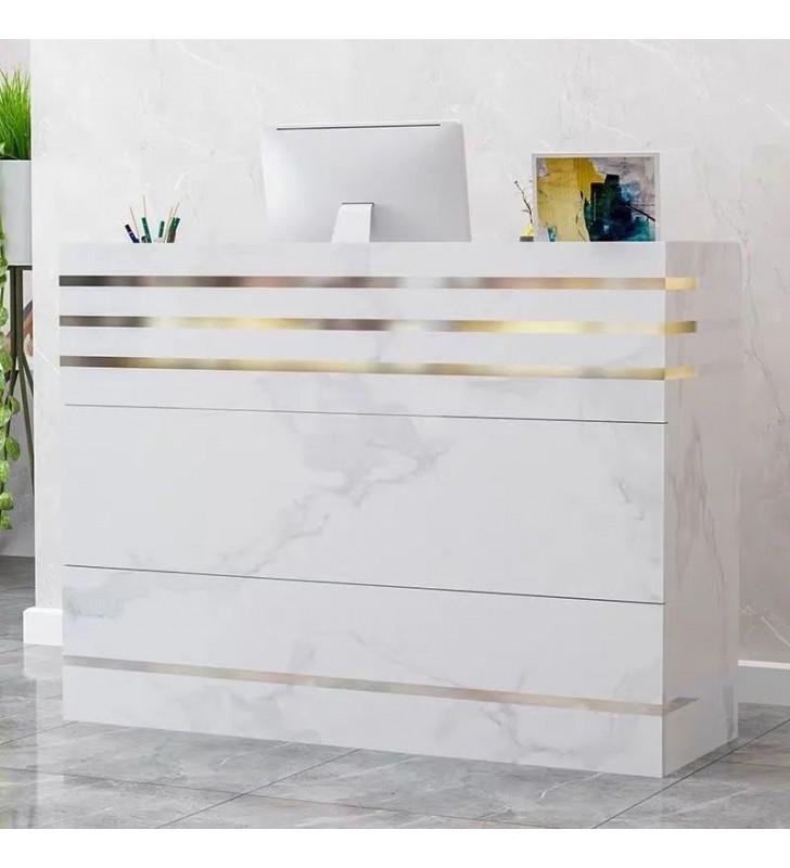 1.2m reception desk, Marble Style