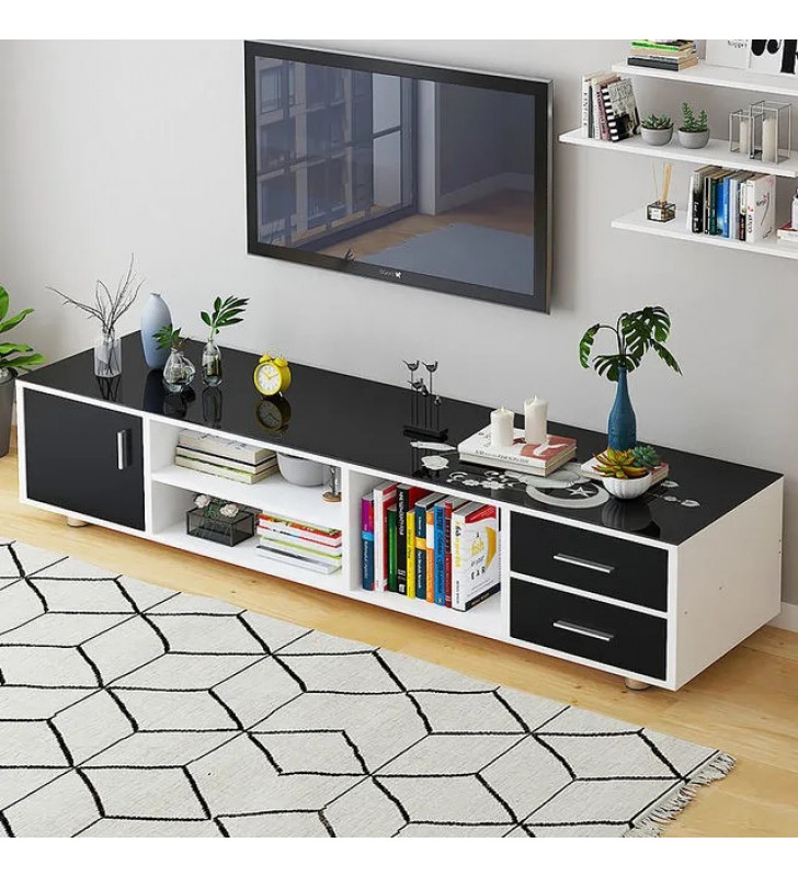 1.6m Tempered glass TV cabinet