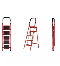 5 Layers Red Folding Ladder